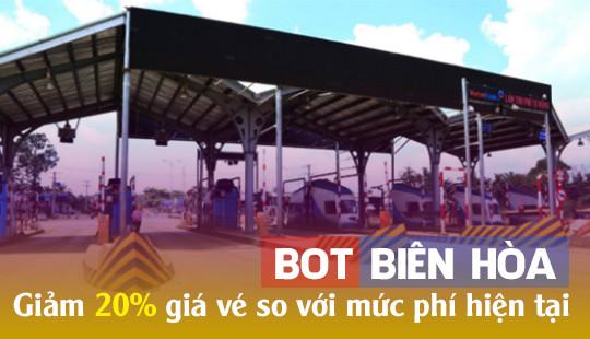 4 xã khi qua trạm BOT Biên Hòa sẽ được miễn phí 100% giá vé
