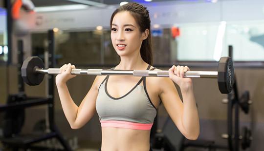 Mỹ Linh khoe hình thể chuẩn từng milimet khi tập gym, bứt phá đến Miss World 2017