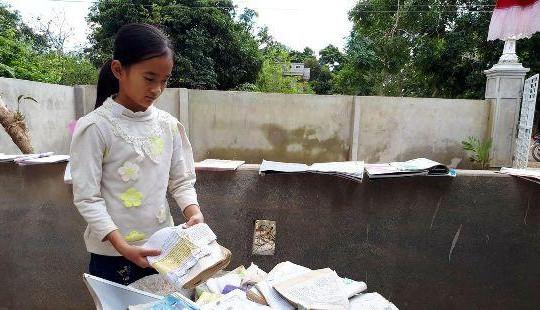 Thanh Hóa: Hàng nghìn học sinh tiếp tục phải nghỉ học sau mưa lũ