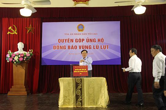 TANDTC quyên góp ủng hộ đồng bào lũ lụt các tỉnh Bắc Bộ, Bắc Trung Bộ