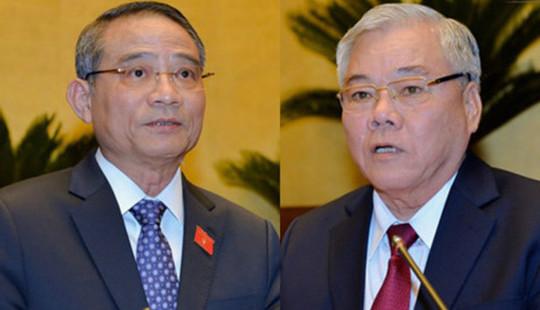 Quốc hội tiến hành miễn nhiệm Tổng Thanh tra Chính phủ và Bộ trưởng Bộ GTVT