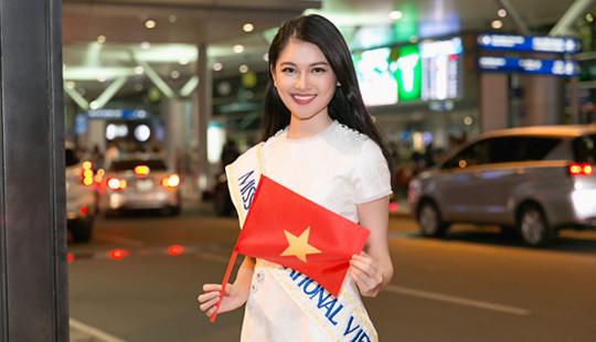 Thuỳ Dung mang gần 140kg hành lý sang Nhật dự thi Hoa hậu quốc tế 2017