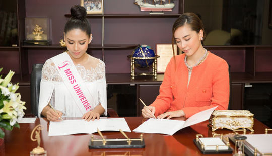 Á hậu Nguyễn Thị Loan được cấp phép tham gia Hoa hậu Hoàn vũ 2017