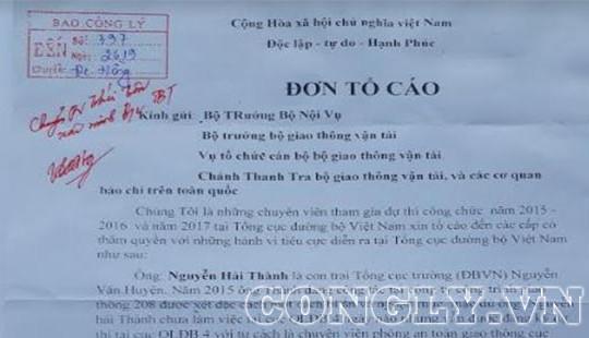Tổng cục Đường bộ Việt Nam: Không có chuyện gây sức ép để đưa người thân vào đảm nhiệm chức vụ quan trọng