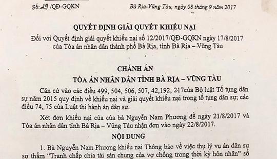 Bà Rịa-Vũng Tàu: Nhiều bất thường xung quanh vụ án đòi tài sản