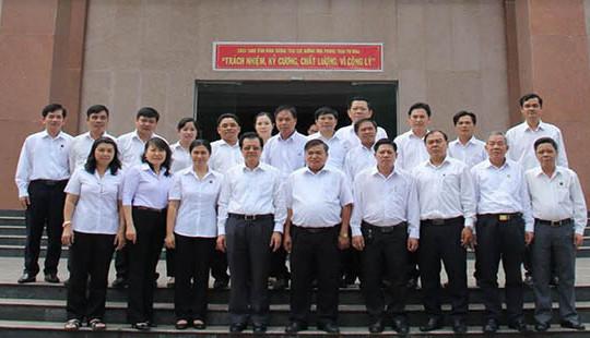 Phó Chánh án TANDTC Lê Hồng Quang làm việc tại TAND 3 tỉnh miền Đông Nam Bộ