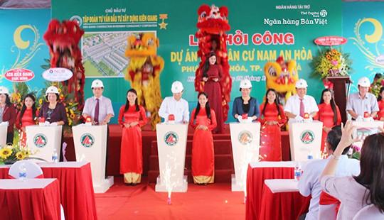 Ngân hàng TMCP Bản Việt tài trợ tín dụng 300 tỷ đồng cho dự án khu dân cư Nam An Hoà (Kiên Giang)