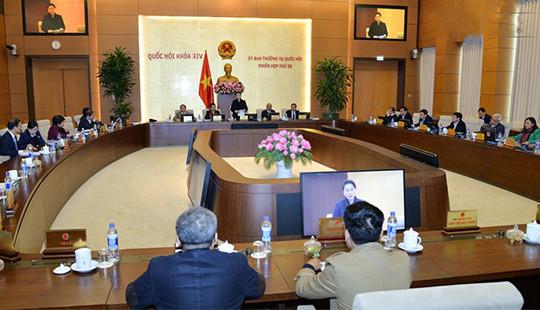 Bế mạc Phiên họp thứ 20 của Ủy ban Thường vụ Quốc hội