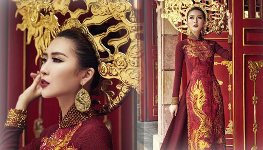 Tường Linh mang hình ảnh rồng đến Hoa hậu Liên lục địa 2017