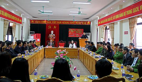 Chánh án Nguyễn Hòa Bình thăm và làm việc tại tỉnh Thanh Hóa
