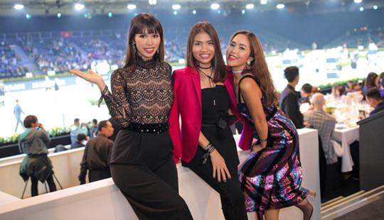 Giáp Tết, siêu mẫu Hà Anh vẫn tất bật đi dự sự kiện ở nước ngoài
