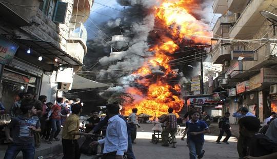 """Chiến sự khốc liệt cháy hừng hực trong vùng """"giảm căng thẳng"""" tại Syria"""