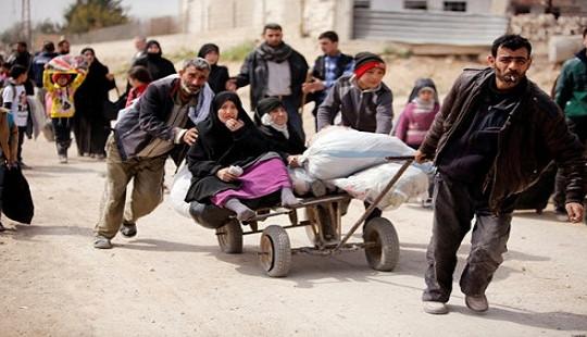 Cuộc tháo chạy khổng lồ đang diễn ra ở địa ngục Đông Ghouta