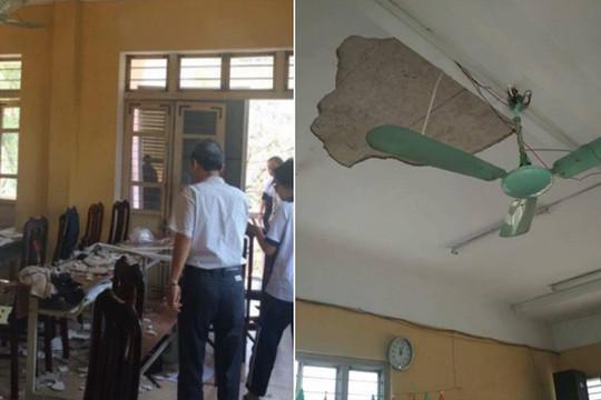Hà Nội: Mảng trần nhà rơi giữa giờ học, nhiều học sinh bị thương