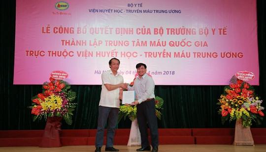 Việt Nam thành lập Trung tâm Máu quốc gia
