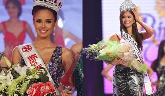 Hoa hậu Thế giới 2013 và Hoa hậu Hoàn vũ 2015 dự lễ ra mắt Trung tâm đào tạo Hoa hậu Việt Nam