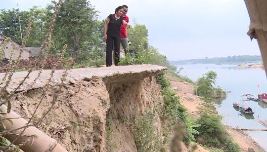 Sạt lở nghiêm trọng sông Chu đe dọa tính mạng người dân