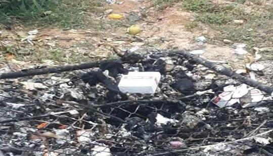 """Hà Tĩnh: Bệnh viện đốt chất thải nguy hại """"vô tư"""" xả khói hành dân"""