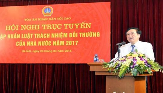 Tập huấn trực tuyến Luật Trách nhiệm bồi thường của Nhà nước năm 2017