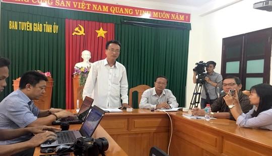 Bình Thuận họp báo thông tin vụ gây rối, đập phá ngày 10/6