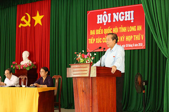 Phó Thủ tướng Trương Hoà Bình: Cử tri yên tâm vì không có chuyện bán đất cho ai
