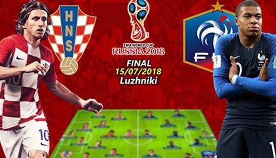 Pháp - Croatia: Chiến thắng gọi tên ai?