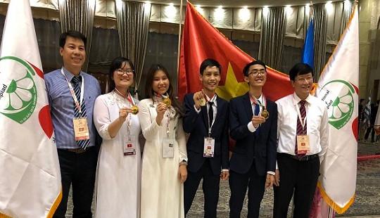 Việt Nam giành 3 huy chương vàng Olympic môn Sinh học