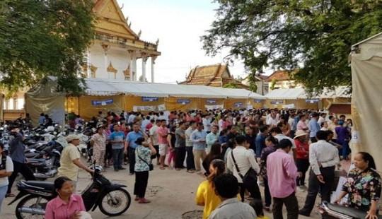 8 triệu người dân Campuchia tham gia tổng tuyển cử