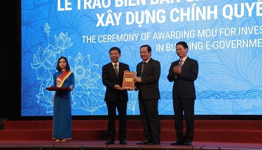 VNPT nhận biên bản ghi nhớ hợp tác đầu tư xây dựng Chính quyền điện tử tại tỉnh Quảng Bình