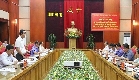 Đoàn công tác của Ban chỉ đạo Trung ương về phòng, chống tham nhũng làm việc tại tỉnh Phú Thọ