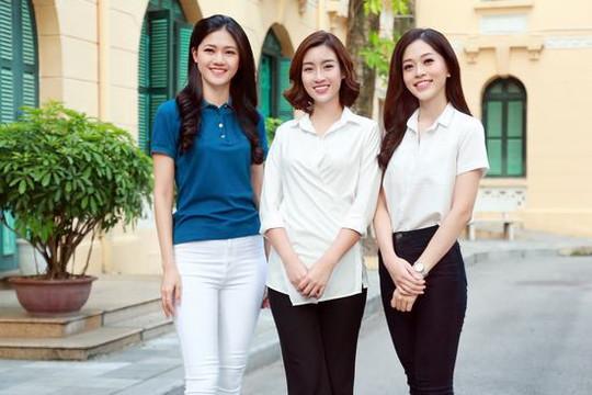 Á hậu Phương Nga, Hoa hậu Mỹ Linh, Á hậu Thanh Tú giản dị đi thiện nguyện