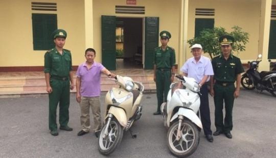 Quảng Ninh: Phát hiện, thu hồi 2 xe SH bị mất cắp