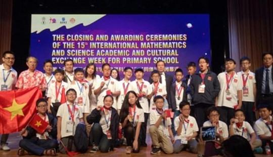 Kỳ thi Olympic Toán và Khoa học quốc tế  2018: Việt Nam giành 8 Huy chương Vàng