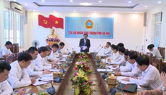 Hội nghị bàn về biện pháp đẩy nhanh tốc độ giải quyết án hành chính tại TAND TP Hà Nội