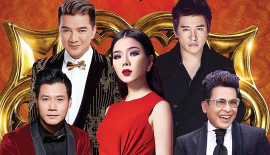 """Lệ Quyên """"nắm tay"""" Mr Đàm, Tuấn Hưng hát đêm nhạc lớn nhất năm"""