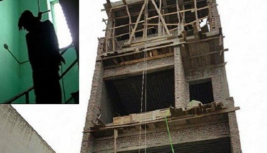 Chủ thầu chết treo cổ trên công trình đang xây dựng