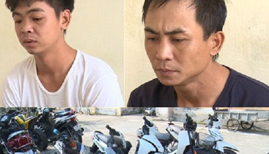 Khởi tố 2 đối tượng chuyên trộm cắp xe máy