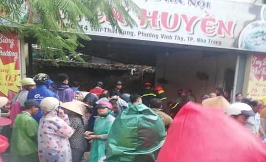 Lở đất ở Khánh Hòa, 2 người chết, 1 người bị thương
