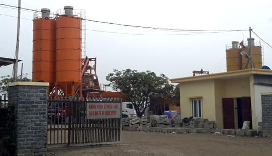 """Huyện Quỳnh Lưu – Nghệ An: Ai """"bảo kê"""" cho hàng loạt trạm bê tông không phép?"""