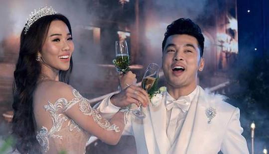 Đám cưới ngọt ngào củaƯng Hoàng Phúc- Kim Cương sau 6 năm sống chung
