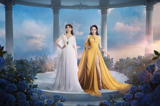 Hương Giang và Hari Won cùng xuất hiện đẹp như nữ thần trong khu vườn sắc đẹp