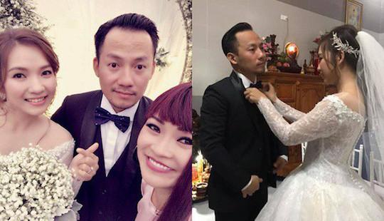 Hình ảnh hiếm hoi trong đám cưới của Tiến Đạt và vợ kém 10 tuổi