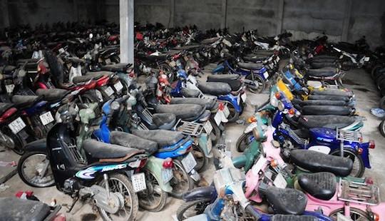 Phát hiện kho chứa 40 xe máy không rõ nguồn gốc