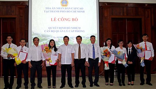 TAND cấp cao tại Tp Hồ Chí Minh bổ nhiệm chức vụ quản lý cấp phòng