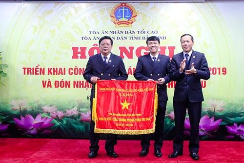 TAND hai cấp tỉnh Bắc Ninh: Tiếp tục nâng cao chất lượng xét xử, hoàn thành xuất sắc các mặt công tác