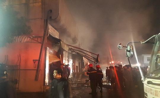 Nguyên nhân ban đầu vụ cháy tại chợ đầu mối lớn nhất Thanh Hóa