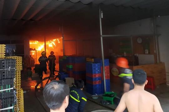 Cháy lớn tại kho trứng ở Vũng Tàu