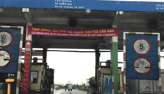 Tạm dừng thu phí trạm BOT Cầu Rác - Hà Tĩnh