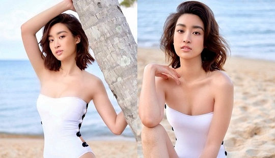 """Đỗ Mỹ Linh táo bạo diện bikini bước vào """"đường đua khoe dáng"""""""