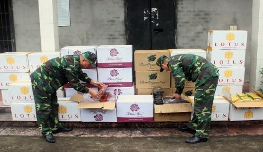 Bộ đội biên phòng Quảng Ninh bắt 15.000 bao thuốc lá nhập lậu